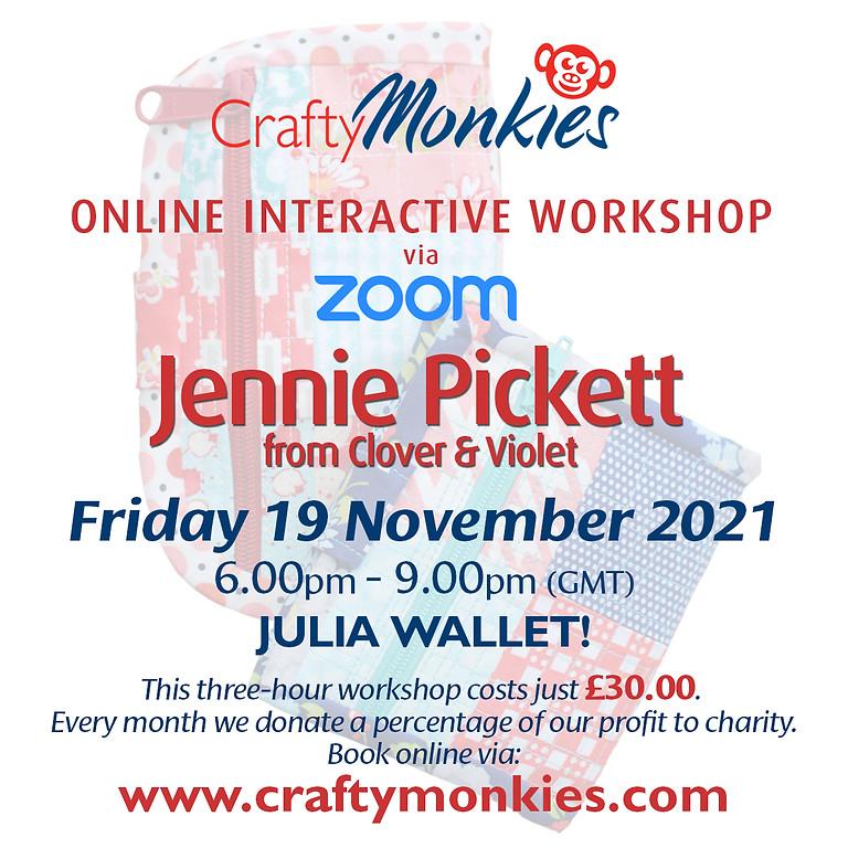 Friday 19 November 2021: Online Workshop (Julia Wallet)
