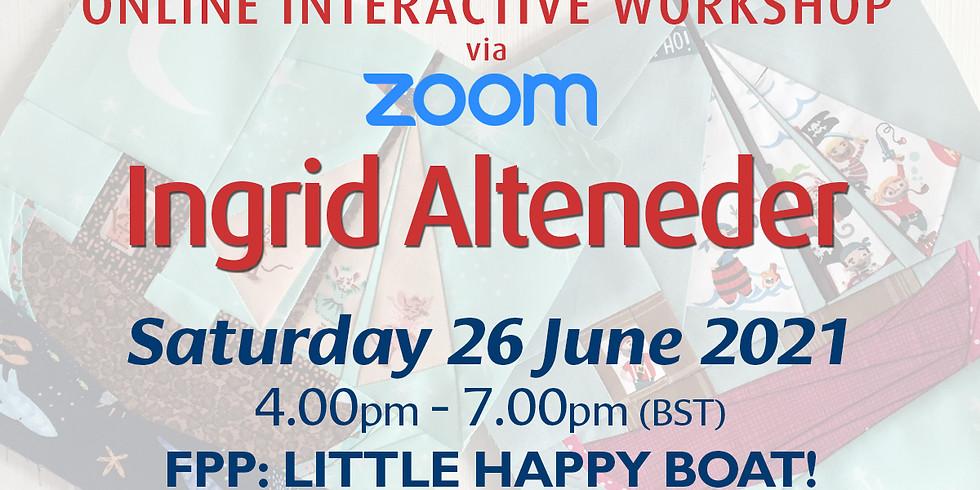 Saturday 26 June 2021: Online Workshop (FPP: Little Happy Boat!)