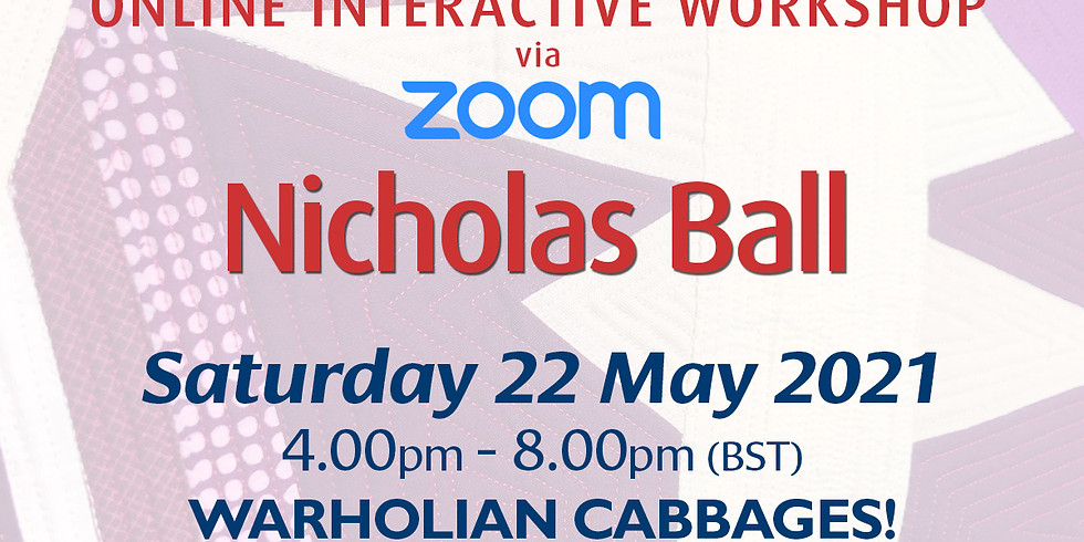 Saturday 22 May 2021: Online Workshop (Warholian Cabbages!)