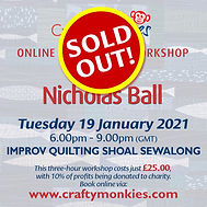 CraftyMonkies Nicholas Ball Online Interactive Workshop Shoal Sewalong