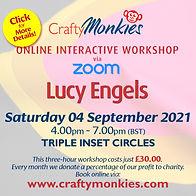 CraftyMonkies Lucy Engels Online Interactive Workshop Triple Inset Circles!