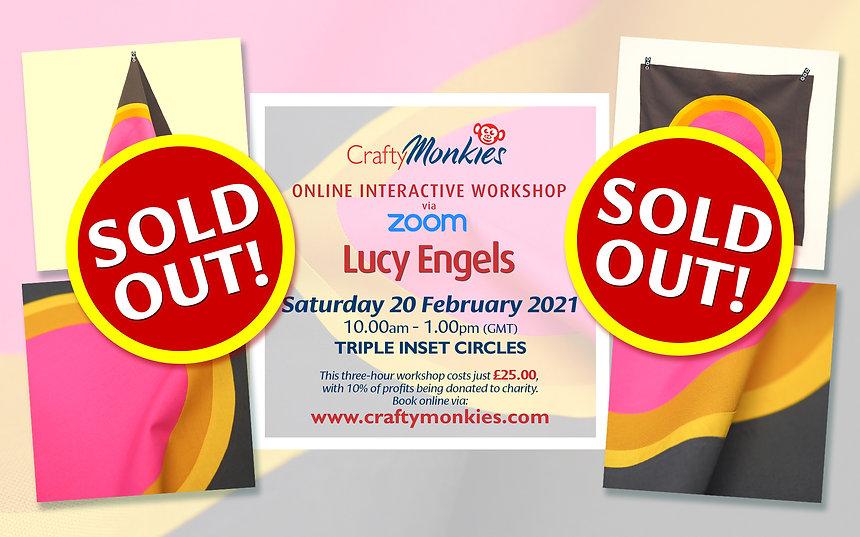CraftyMonkies Lucy Engels Online Interactive Workshop via Zoom Triple Inset Circles