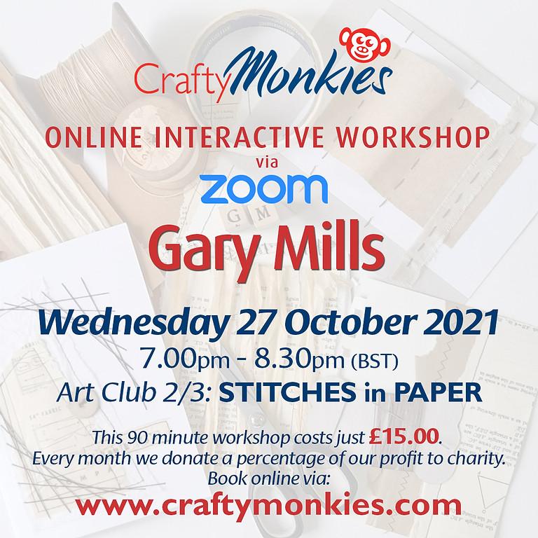 Wednesday 27 October 2021: Online Workshop (Stitches In Paper)