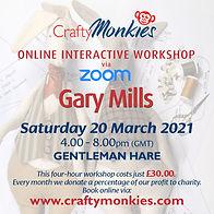 CraftyMonkies Gary Mills Online Interactive Workshop via Zoom Gentleman Hare Stuffed Figure!