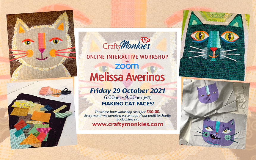 CraftyMonkies Melissa Averinos Online Interactive Workshop Making Cat Faces!