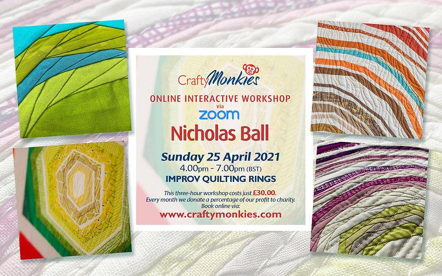 CraftyMonkies Nicholas Ball Online Interactive Workshop Improv Rings Technique