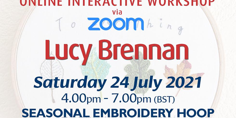 Saturday 24 July 2021: Online Workshop (Seasonal Theme Embroidery Hoop)