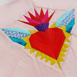 CraftyMonkies Ingrid Alteneder Online Interactive Workshop FPP Sacred Heart with Wings