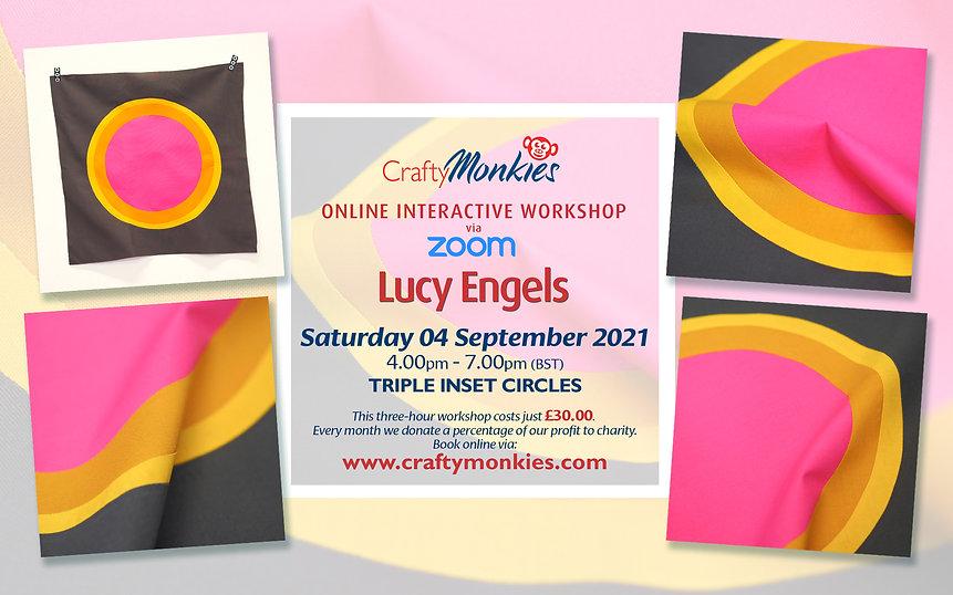 CraftyMonkies Lucy Engels Online Interactive Workshop Triple Inset Circles