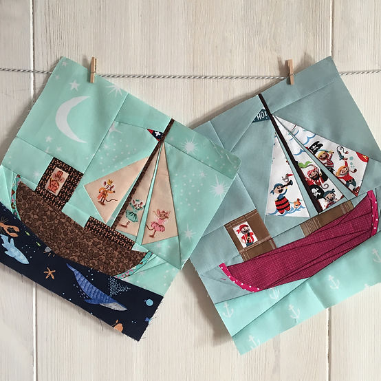 Hone your Foundation Paper Piecing skills with this fabulous Little Happy Boat workshop by Ingrid!