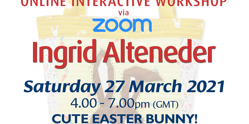 Saturday 27 March 2021: Online Workshop (Cute Easter Bunny)