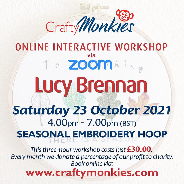 Saturday 23 October 2021: Online Workshop (Seasonal Embroidery Hoop)