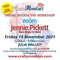 CraftyMonkies Jennie Pickett from Clover and Violet Online Interactive Workshop Julia Wallet