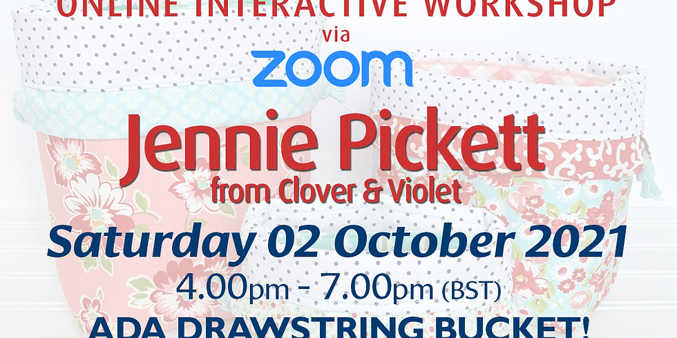 Saturday 02 October 2021: Online Workshop (Ada Drawstring Bucket)