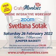 CraftyMonkies Svetlana Sotak Online Interactive Workshop Juniper Basket!