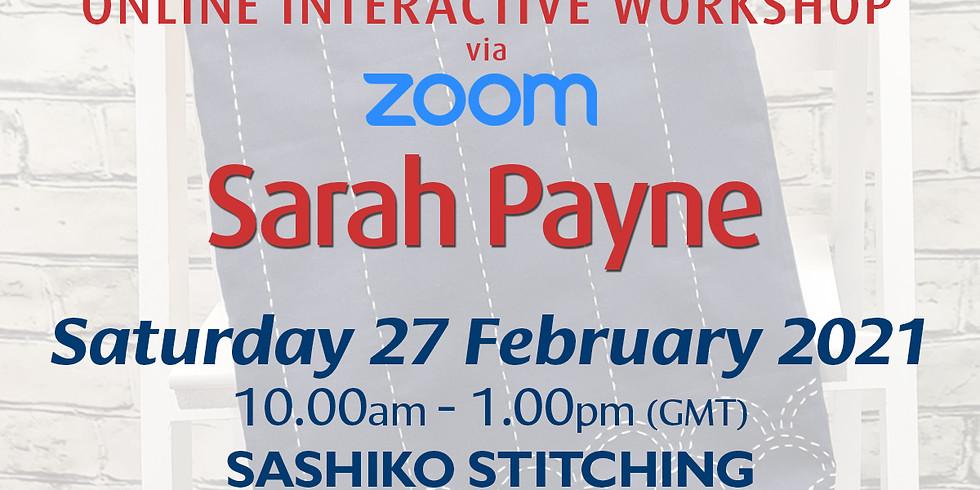 Saturday 27 February 2021: Online Workshop (Sashiko Stitching)