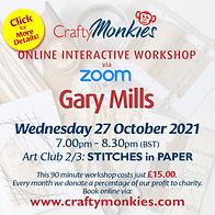 CraftyMonkies Gary Mills Online Interactive Workshop Stitches In Paper!