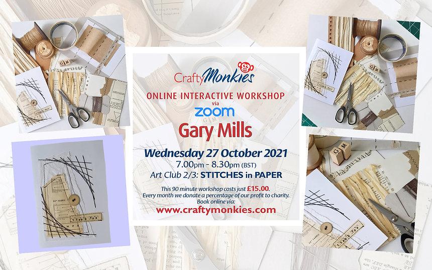 CraftyMonkies Gary Mills Online Interactive Workshops Stitches In Paper!