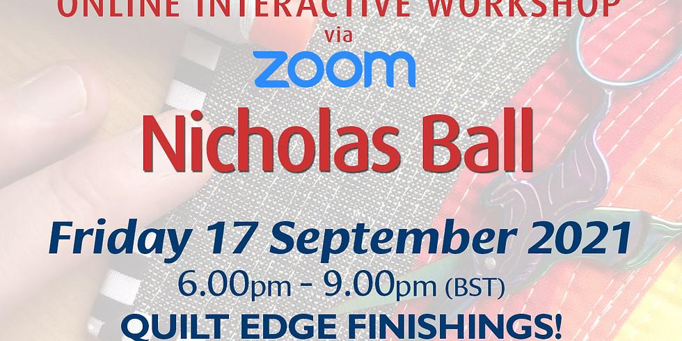 Friday 17 September 2021: Online Workshop (Quilt Edge Finishings)