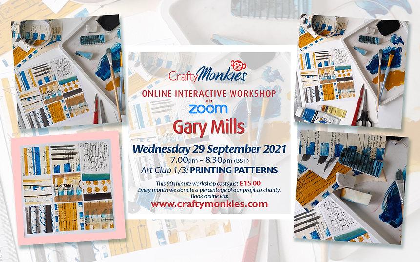 CraftyMonkies Gary Mills Online Interactive Workshops Printing Patterns!
