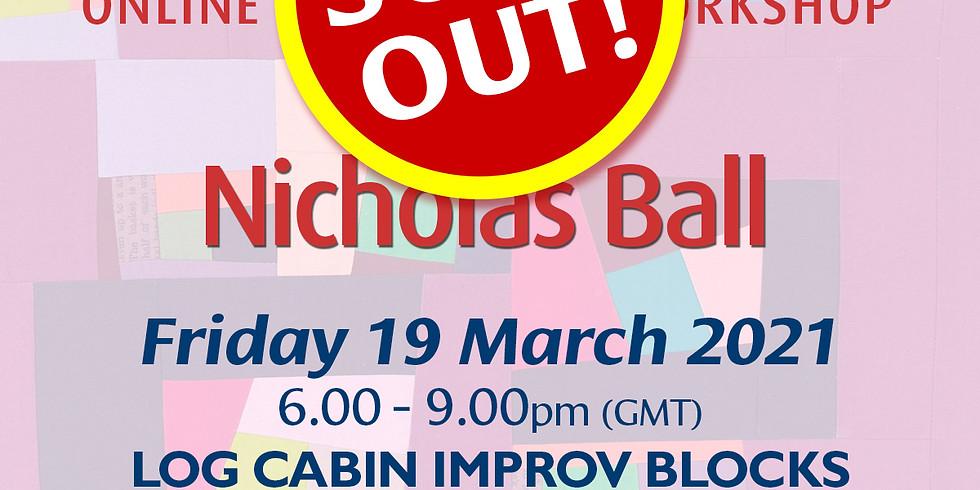 Friday 19 March 2021: Online Workshop (Log Cabin Blocks)