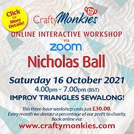 CraftyMonkies Nicholas Ball Online Interactive Workshop Improv Triangles Sewalong!