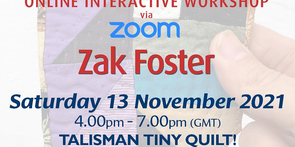 Saturday 13 November 2021: Online Workshop (Talisman Tiny Quilt)