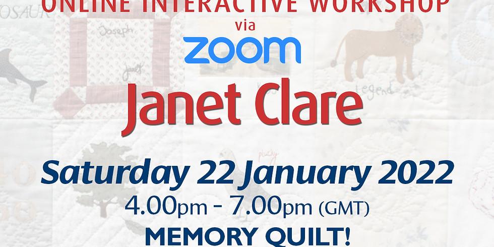 Saturday 22 January 2022: Online Workshop (Memory Quilt)
