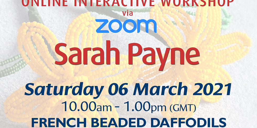 Saturday 06 March 2021: Online Workshop (French Beading)