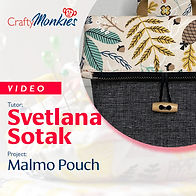 CraftyMonkies_Workshop Video_Svetlana Sotak_Malmo Pouch!