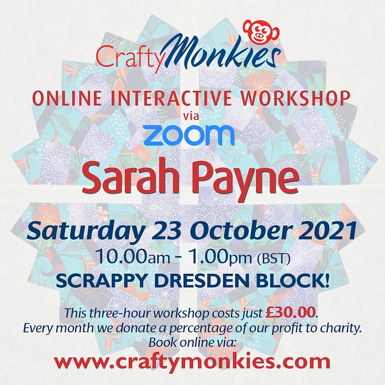 Saturday 23 October 2021: Online Workshop (Scrappy Dresden Block)