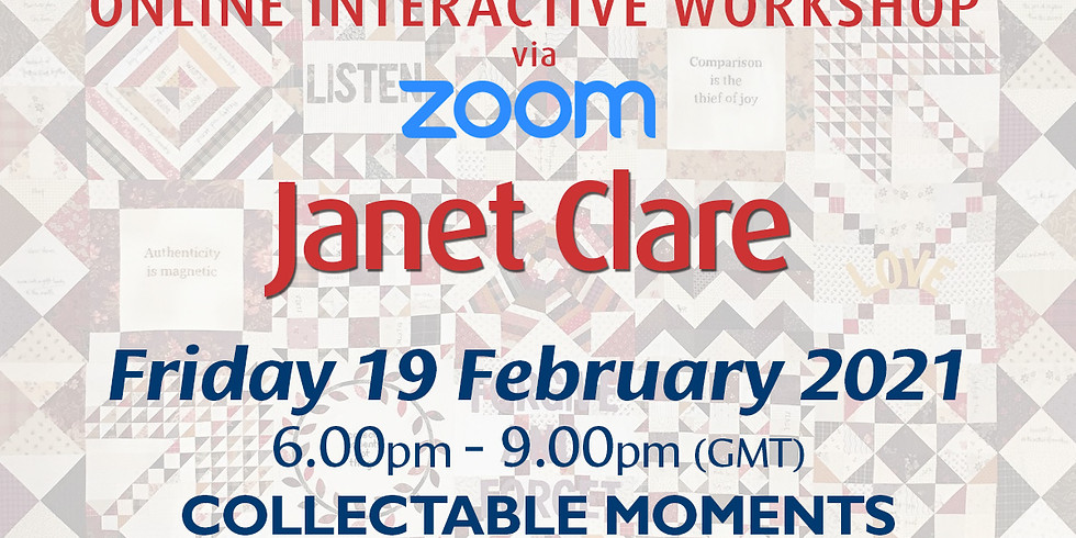 Friday 19 February 2021: Online Workshop (Collectable Moments)