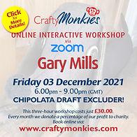 CraftyMonkies Gary Mills Online Interactive Workshop Chipolata Draft Excluder!