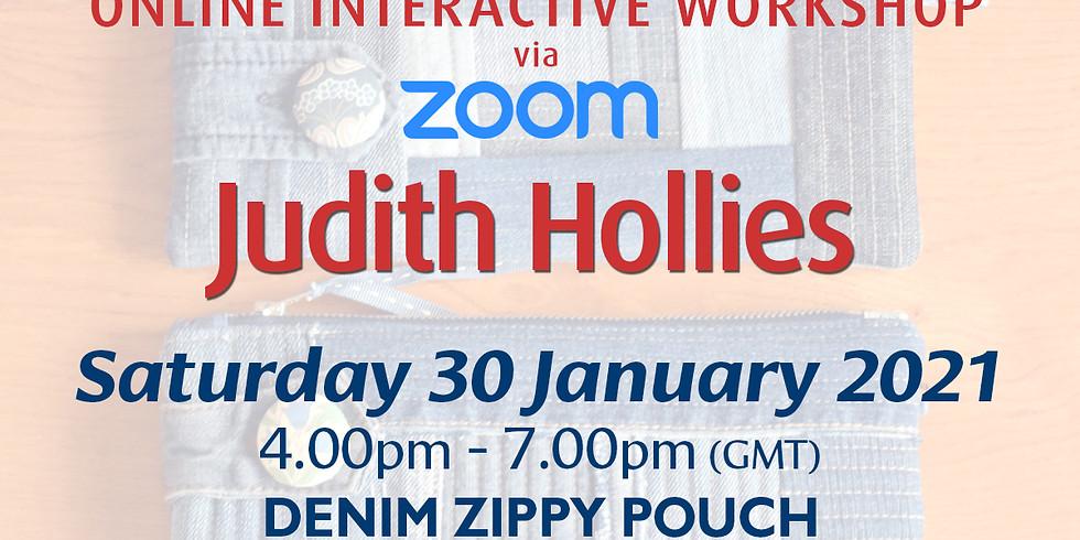 Saturday 30 January 2021: Online Workshop (Denim Zippy Pouch)