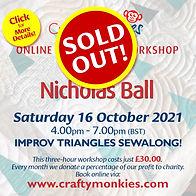 CraftyMonkies Nicholas Ball Online Interactive Workshop Improv Triangles Sewalong