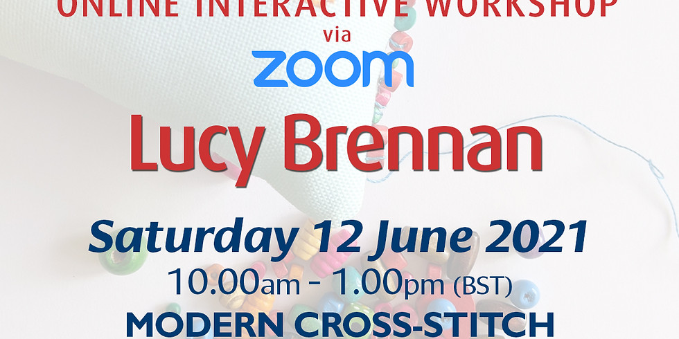 Saturday 12 June 2021: Online Workshop (Modern Cross-Stitch Pin Cushions)
