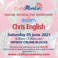 CraftyMonkies Chris English Online Interactive Workshop Improv Crumb Blocks