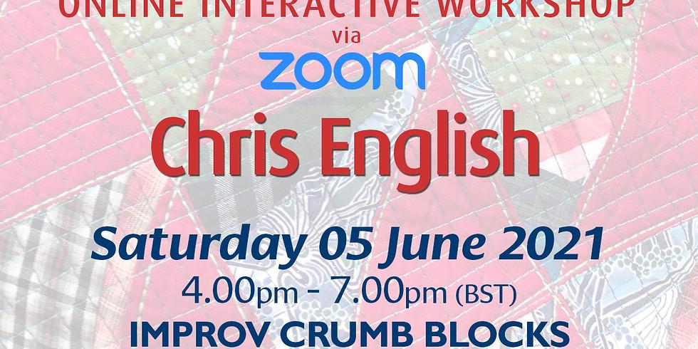 Saturday 05 June 2021: Online Workshop (Improv Crumb Blocks)