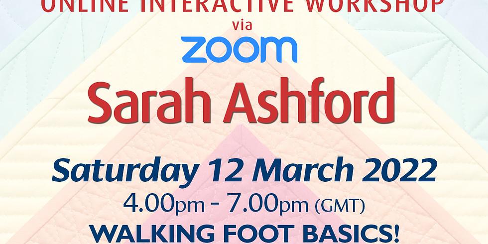 Saturday 12 March 2022: Online Workshop (Walking Foot Basics!)