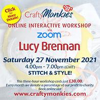 CraftyMonkies Lucy Brennan Online Interactive Workshop Stitch & Style