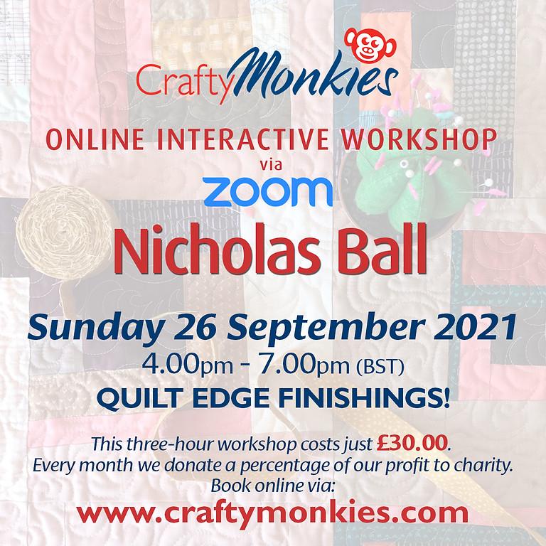 Sunday 26 September 2021: Online Workshop (Quilt Edge Finishings)