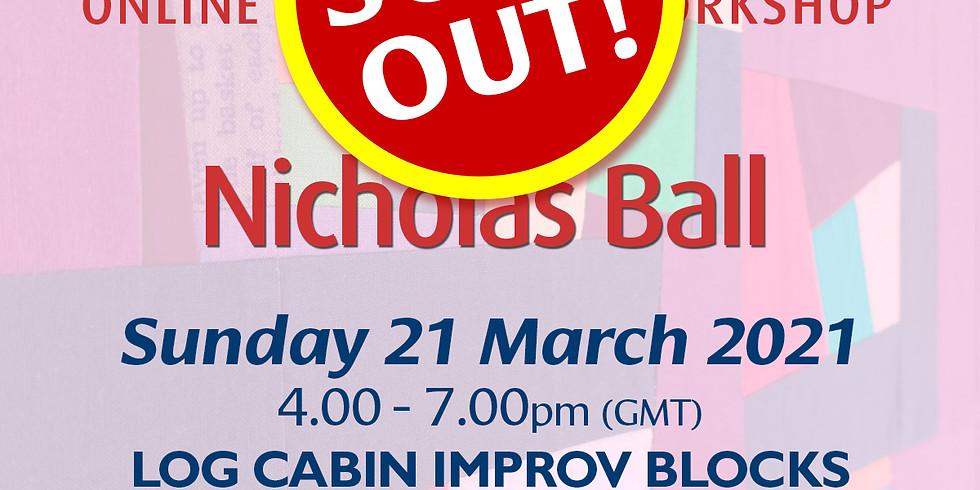 Sunday 21 March 2021: Online Workshop (Log Cabin Improv Blocks)