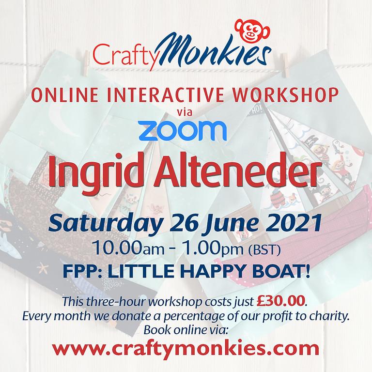 Saturday 26 June 2021: Online Workshop (FPP: Little Happy Boat)