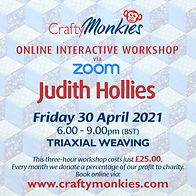 CraftyMonkies Judith Hollies Online Interactive Workshop via Zoom Weaving Fabric Strips
