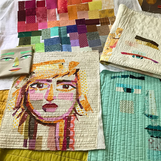 Learn how to create fabric faces with ease in this superb Online Interactive Worshop via Zoom!