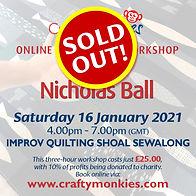 CraftyMonkies Nicholas Ball Online Interactive Workshop via Zoom - Shoal Sewalong