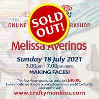 CraftyMonkies Melissa Avelinos Online Interactive Workshop Making Faces!