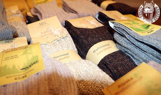 Diving socks made from alpaca wool