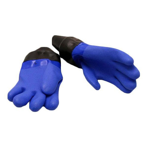 Nordic Blue dry diving gloves with a conical latex cuff