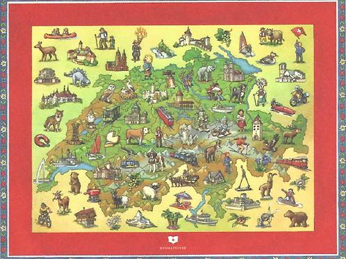 Puzzle Schweizer Landkarte
